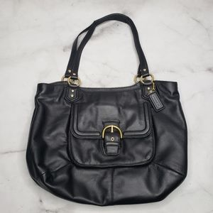 Coach black campbell belle large carryall